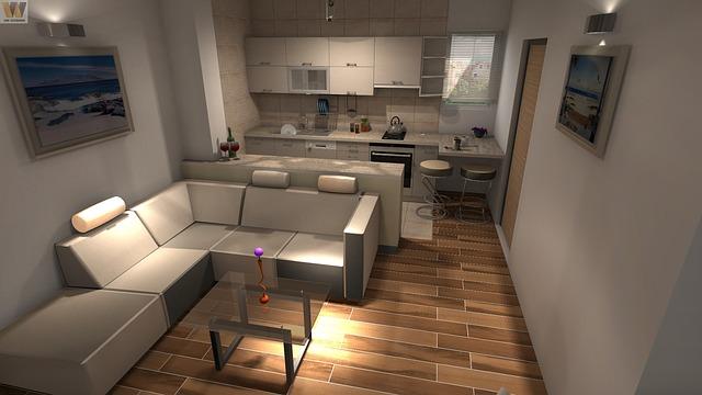 Kuchnia biała w nowoczesnym mieszkaniu