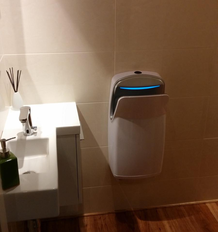 Toaleta z suszarką R1.1 Biała