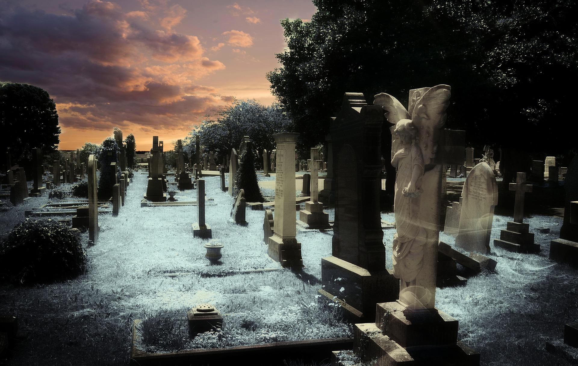 Cmentarz - nagrobki