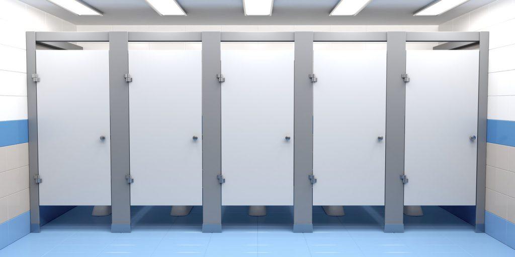 publiczna kabina toaletowa