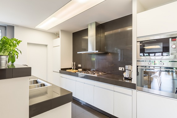 Kitchen with stylish amenities