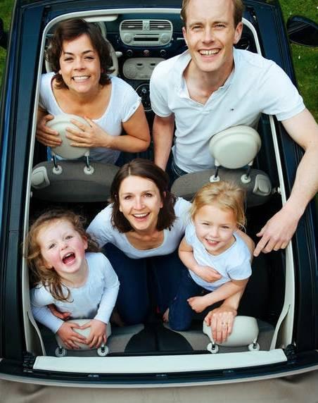 rodzinna podróż autem